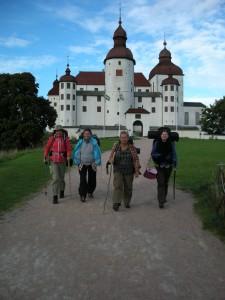 Pilgrimer framför Slottet